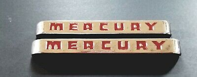 Pair 1948,1949,1950 Ford Mercury Truck Side Hood Emblems