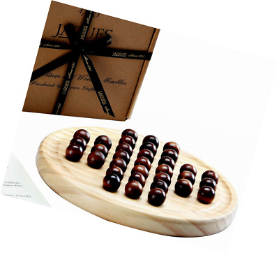 Solitaire Game - Wooden Marble - Solid Marbles - Jaques of London Games Since 17
