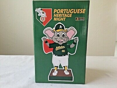 Athletics A's MLB PORTUGUESE HERITAGE NIGHT MASCOT STOMPER BOBBLEHEAD SGA NEW