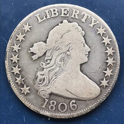1806 Draped Bust Half Dollar 50c High Grade Rare Early Coin #9763