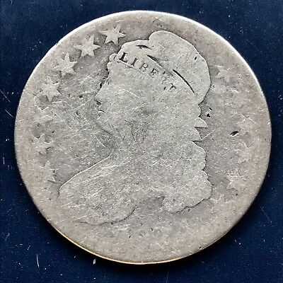 1824 Capped Bust Half Dollar  50c Circulated   #9772