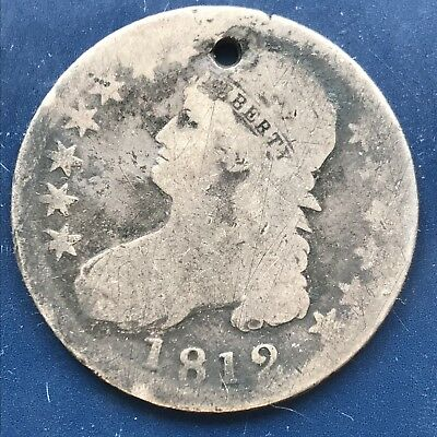 1812 Capped Bust Half Dollar  50c Circulated #9767