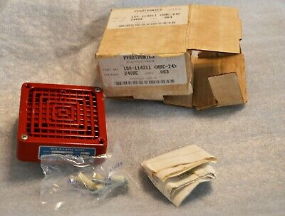 NEW Vintage Pyrotronics 6058 Electric Fire Alarm Horn 190-114311 HDC 24