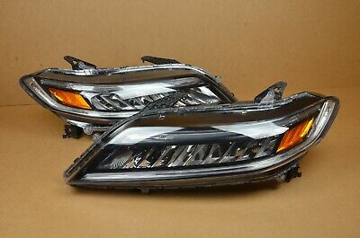 DRL's Working! 16 17 Honda Accord Coupe Full LED Headlight Set Pair LH + RH OEM