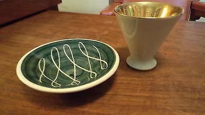 2 Vintage Jersey Pottery England Pieces MCM