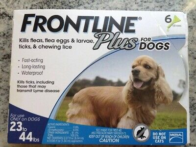 Frontline Plus for Dogs 23-44 lbs - 6 Treatments - 6 Month Supply