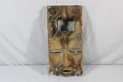 "Handmade Wooden African Congo Mask - 20"" Inches - Male and Female Carvings"