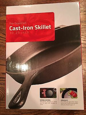 """Pre Seasoned Cast Iron Skillet 10.25""""  by Utopia Kitchen Free Hot Handle Holder"""