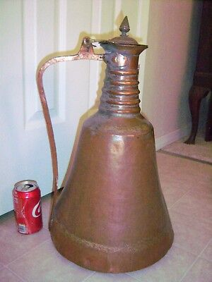 Middle East Persian Islamic Arab Water dalla Pot vintage Copper whiskey still