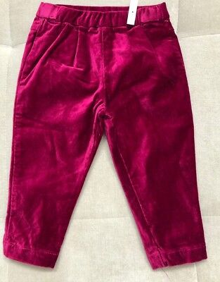 Girls Tea Collection Stretchy Pink Velvet Pants Leggings Size 6-12 Month