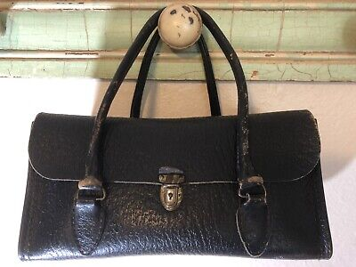 Vintage Schell Brand Cowhide Leather Physician Medical Bag, Purse  Satchel