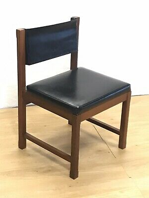 Mid Century Teak & Leather Directors / desk Chair by Remploy