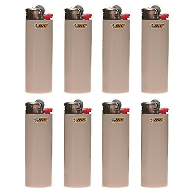 "8 x BIC Maxi Lighter ""GRAY"", New w/ Butane, Same Day Express Shipping"