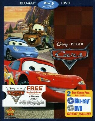 Cars (Blu-ray/DVD, 2011, 2-Disc Set) GREAT SHAPE