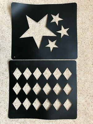 Two horse quarter markers: stars and diamonds. Used but good condition.