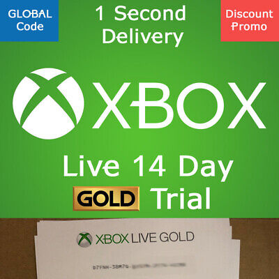 XBOX LIVE 14 Day GOLD Trial Membership Code INSTANT DELIVERY 2 Weeks GLOBAL