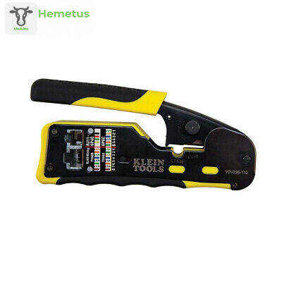 Pass-Thru Modular Wire Crimper, All-in-One Tool Pack of 1, Yellow / Black