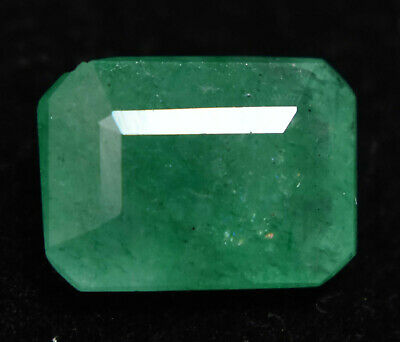 4.20 Ct Natural Green Classic Loose Gem Ston Zambian  Emerald Cut AGSL Certify