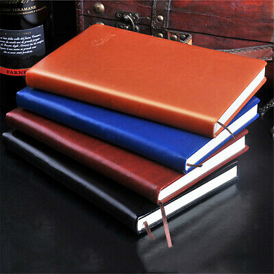 A5 Business PU Leather Cover Journal Notebook Lined Paper Diary Planner 240Pages