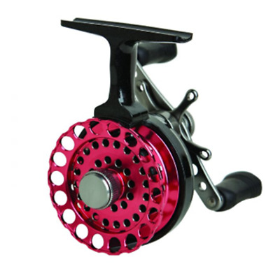EAGLE CLAW INLINE ICE REEL 5 BALL BEARING STAR DRAG GRAPHITE SPOOL ECILIRP PINK