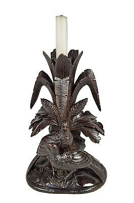 Antique Black Forest Hand Carved Game Bird Epergne or Candle Stand, German.