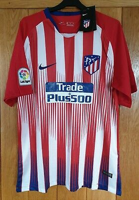 MEN'S ATLETICO MADRID FC HOME FOOTBALL SHIRT 2018 Size EXTRA LARGE