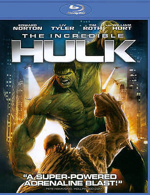 The Incredible Hulk (Blu-ray Disc, 2012) EDWARD NORTON, GREAT SHAPE, GREEN CASE