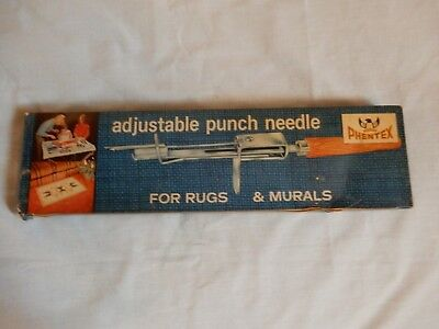 Vtg 1970's Phentex NIB Adjustable Punch Needle For Rugs & Murals