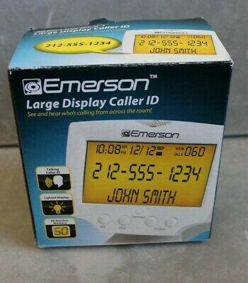 Emerson Large Display Talking Caller ID EM60 - Hear and See Who's Calling!