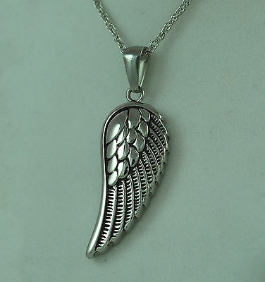 Cremation Urn Wing Jewelry  fill kit stainless with chain