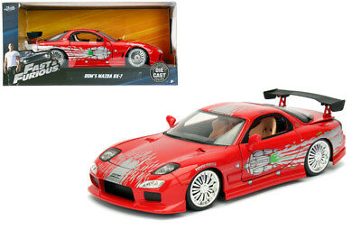 MAZDA rx-7 Fast /& Furious Dom f8 and ROSSO RED 1:32 Jada Toys 98377