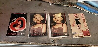 "4 Globalcom 2000 ""MARILYN MONROE"" $20 Prepaid Phone Card NEW"