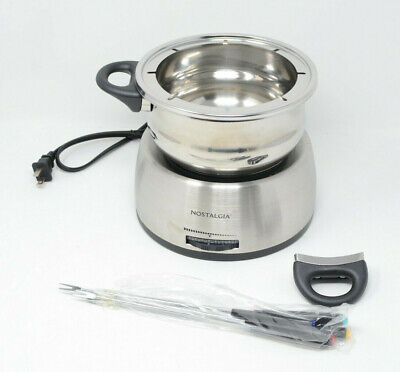 Nostalgia FPS200 - 6-Cup Stainless Steel Electric Fondue Pot