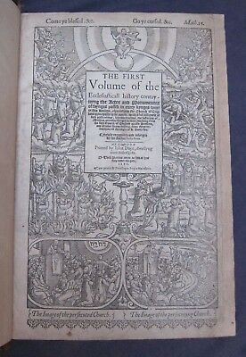 1570-Foxe's Book of Martyrs-Random Beautiful Leaf-Folio-Rare-Martyrs-