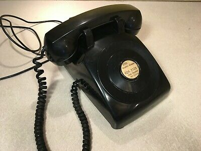 1965 Western Electric Bell System No Dial LM 500 Desk Phone Hotel Lobby Working
