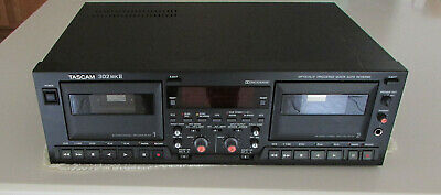 TASCAM 302mkII Dual Professional Auto Reverse Cassette Deck READ