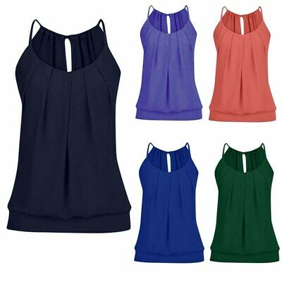 Tank Tops Womens Strappy Vest Sleeveless T Shirts Basic Tee Summer Solid Colors