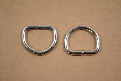 """Dee Ring - 1"""" Nickel Plated - Heavy Weight - Wire Welded - Pack of 12 (F404)"""