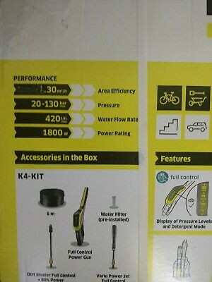 Karcher K4 Full Control Home Pressure washer - BNIB - SEALED - SUPER FAST P&P