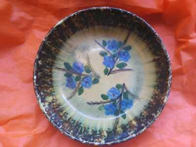 Old Ceramic Plate Depicting floral motifs