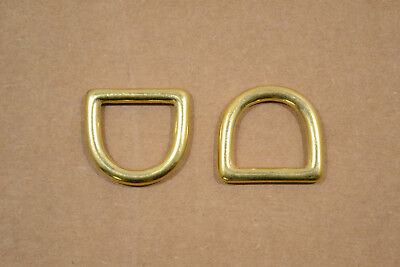 "D Ring - Solid Brass - 3/4"" - Pack of 24 (F21)"