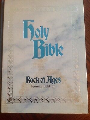 NEW HOLY BIBLE ROCK OF AGES FAMILY EDITION KJV King James Version Large HARDCOVR