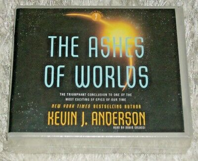 Kevin J Anderson, THE ASHES OF WORLDS, Unabridged 17-CD Audiobook, 20 Hours, NEW