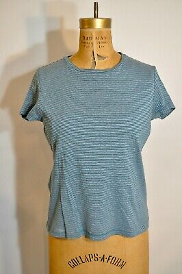 2650a7d8 TALBOTS Women's Short Sleeve Striped T-Shirt Size Petite M Medium - Blue  Stripe