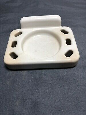 vintage ceramic Wall mount soap dish With Cup Holder
