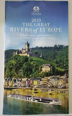2019 Crystal Cruises The Great Rivers Of Europe Travel Cruises Brochure NEW!