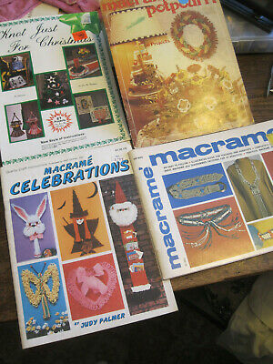 EASTER BUNNY-Macrame Celebration BY Depke LOT 4 PBKS/KNOT JUST FOR XMAS/PEARSON