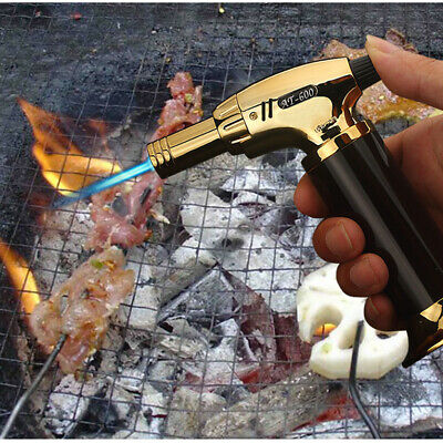 Outdoor Windproof Refillable Butane Gas Baking Flame Welding Torch Jet Lighter