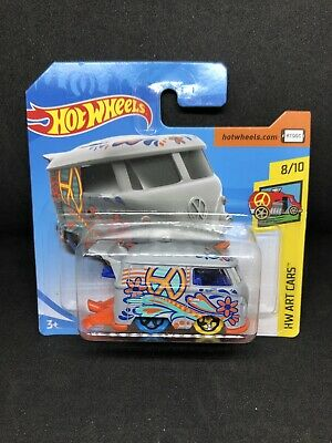 Hot Wheels Volkswagen Kool Kombi HW Art Cars 8/10 353/365 FJW77 D520 1:64 Sealed