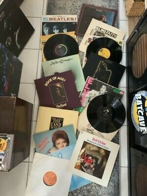 Lot of 10 Classic Rock LP's Elvis, Beatles, Bowie, Dylan, The Band, T Rex VG/VG+